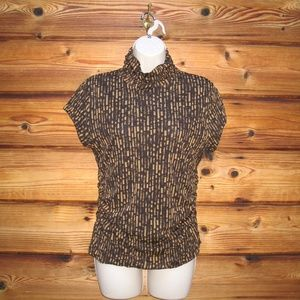 Kenneth Cole Brown Mesh Top